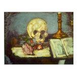 Edgar Degas - Skull Postcard