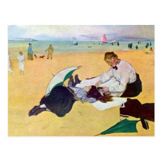 Edgar Degas - Small girls on the beach Postcard