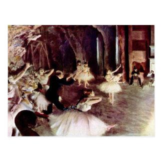 Edgar Degas - Stage Probe Postcard