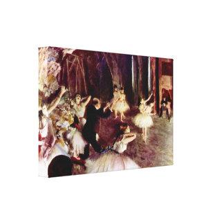 Edgar Degas - Stage trial Canvas Print