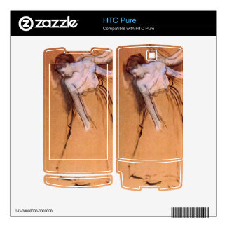 Edgar Degas - Standing with arms stretched bent to Decal For HTC Pure