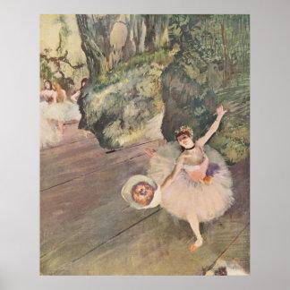 Edgar Degas Star of Ballet w/ Flowers 1878 pastel Poster