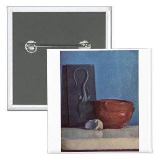 Edgar Degas - Still Life w/ Lizard 1958-60 oil Pinback Button