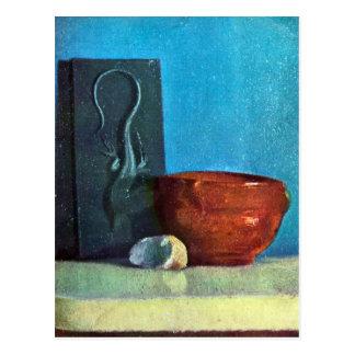 Edgar Degas - Still Life with lizard Postcard