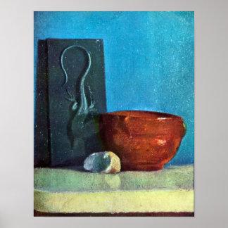 Edgar Degas - Still Life with lizard Poster