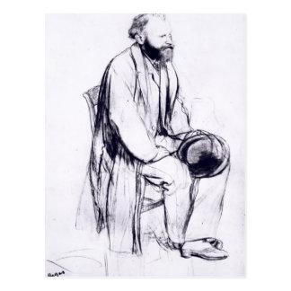 Edgar Degas | Study for a portrait of Manet Postcard