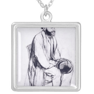 Edgar Degas | Study for a portrait of Manet Silver Plated Necklace