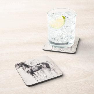 Edgar Degas: Study for Semiramis Building Babylon Drink Coaster