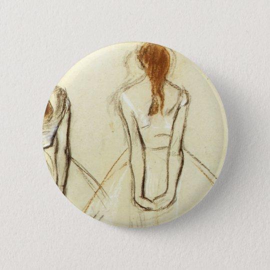Edgar Degas: Study for the Little Dancer Button