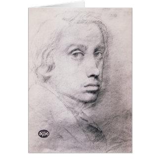 Edgar Degas: Study for the Self Portrait Cards