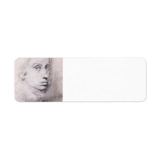 Edgar Degas: Study for the Self Portrait Return Address Labels