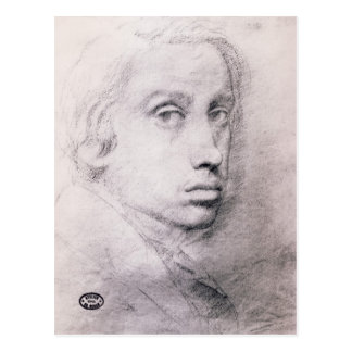 Edgar Degas: Study for the Self Portrait Postcards