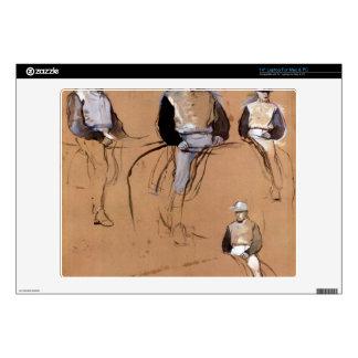 Edgar Degas - Study with four jockeys Laptop Skins