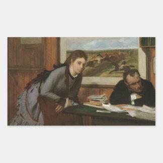 Edgar Degas - Sulking Rectangular Sticker