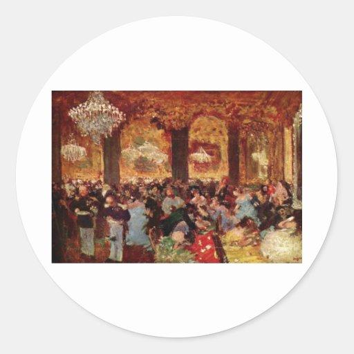 Edgar Degas - teatro del aceite de Menzell de la Pegatina Redonda