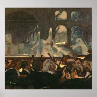 Edgar Degas | The ballet scene, Meyerbeer's opera Poster