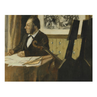 Edgar Degas -The Cellist Pilet Postcard