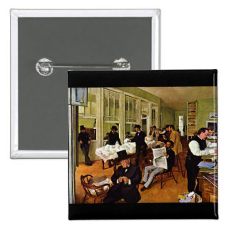 Edgar Degas - The cotton exchange Pinback Button