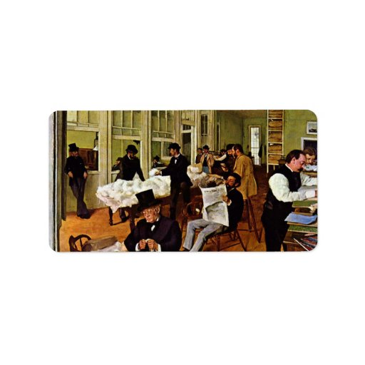 Edgar Degas - The cotton exchange Personalized Address Label
