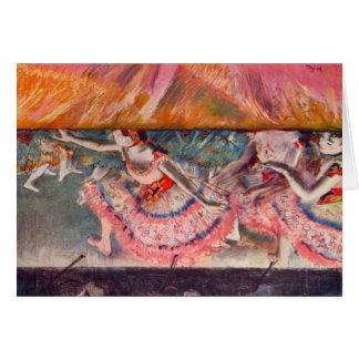 Edgar Degas - The curtain falls Greeting Card