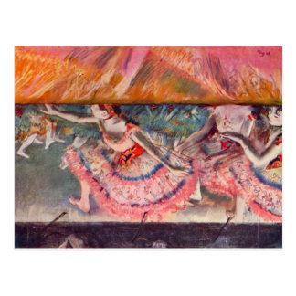 Edgar Degas - The curtain falls Postcard