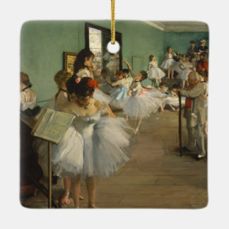 Edgar Degas-The dance class 1874 Ceramic Ornament