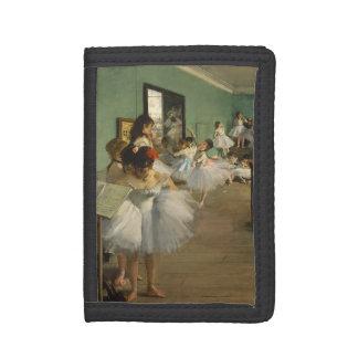 Edgar Degas-The dance class 1874 Trifold Wallet