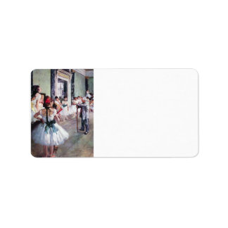 Edgar Degas - The dance class Personalized Address Labels