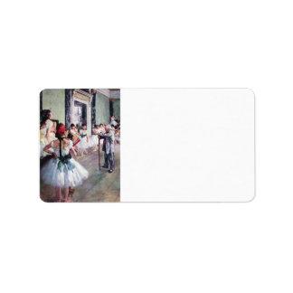Edgar Degas - The dance class Label