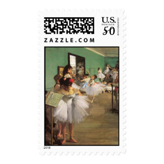 Edgar Degas The Dance Class Postage