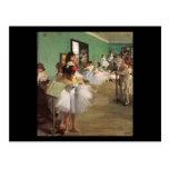Edgar Degas The Dance Class Postcard