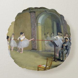 Edgar Degas | The Dance Foyer Round Pillow