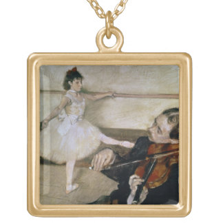 Edgar Degas | The Dance Lesson, c.1879 Gold Plated Necklace