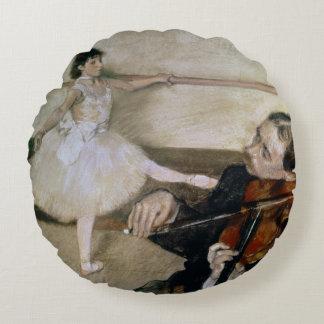 Edgar Degas | The Dance Lesson, c.1879 Round Pillow