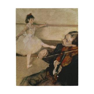 Edgar Degas | The Dance Lesson, c.1879 Wood Wall Art