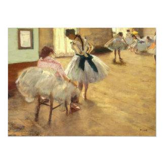 Edgar Degas The Dance Lesson 5.5x7.5 Paper Invitation Card