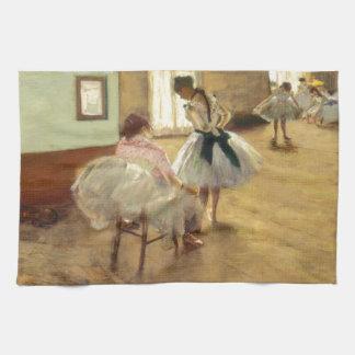 Edgar Degas The Dance Lesson Kitchen Towel