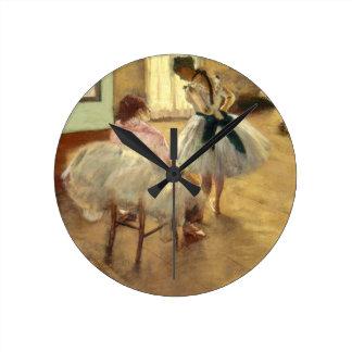 Edgar Degas The Dance Lesson Round Clock