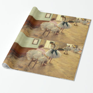 Edgar Degas The Dance Lesson Vintage Fine Art Wrapping Paper