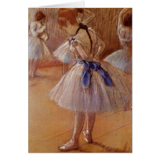 "Edgar Degas ""The Dance Studio""  BLANK Note Card"