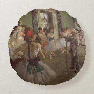 Edgar Degas | The Dancing Class, c.1873-76 Round Pillow