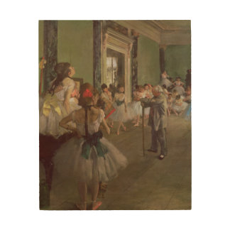 Edgar Degas | The Dancing Class, c.1873-76 Wood Print