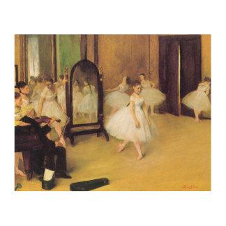 Edgar Degas   The Dancing Class Wood Wall Art