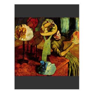 Edgar Degas - The fashion shop Postcard