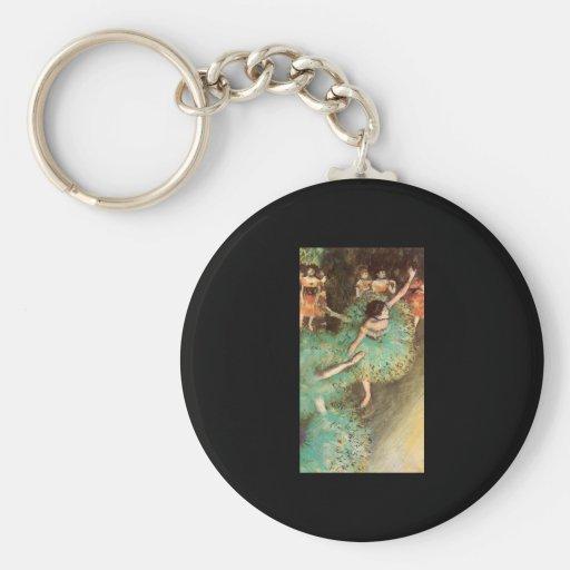 Edgar Degas The Green Dancer Keychains
