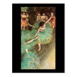 Edgar Degas The Green Dancer Post Cards