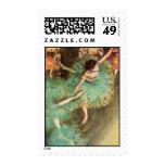 Edgar Degas The Green Dancer Postage Stamp
