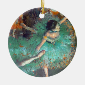 Edgar Degas - The Green Dancers - Ballet Dance Ceramic Ornament