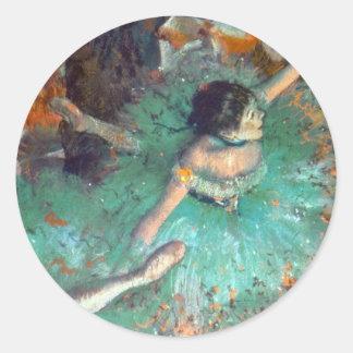 Edgar Degas - The Green Dancers - Ballet Dance Classic Round Sticker