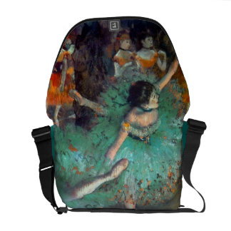 Edgar Degas - The Green Dancers - Ballet Dance Messenger Bag